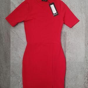 Nasty Gal Dresses - Red tshirt style mini dress NWT